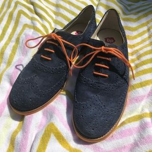 Brass Plum / BP Suede Oxford Style Shoes